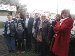 Thérès Gargi Suzanne Fourt le maire Mr Martinet et Mla responsable de l'OPAC étaient ptrésents